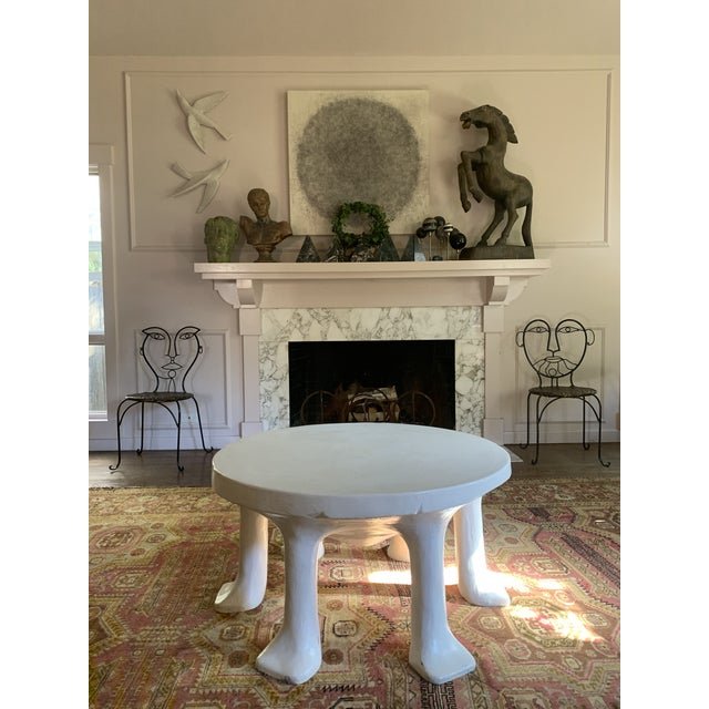 White Postmodern John Dickinson 6-Legged African Plaster Coffee Table by David Sutherland For Sale - Image 8 of 8