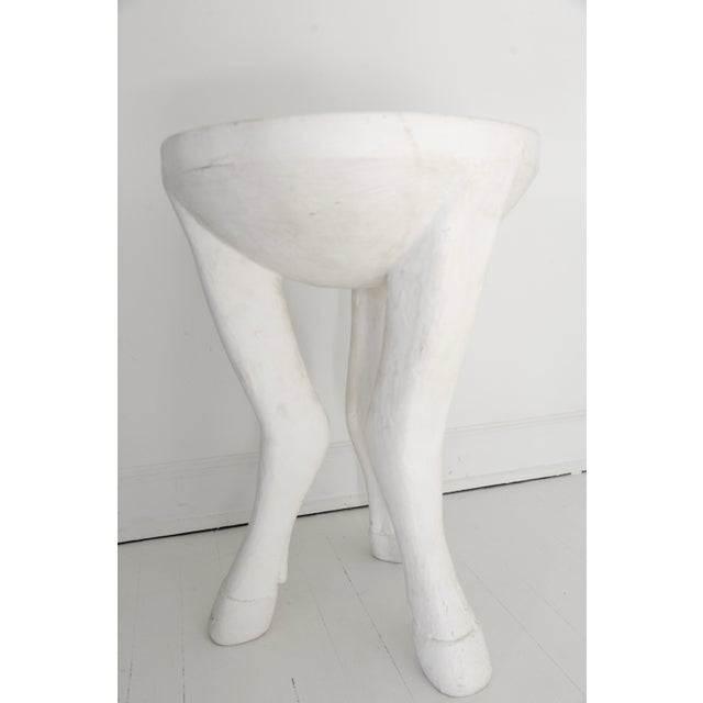 Tribal John Dickinson Style Plaster Hoof Table For Sale - Image 3 of 5
