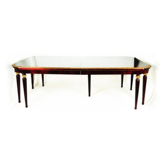 French Vintage Mahogany Dining Table With 24 Karat Gold Leaf Border Preview
