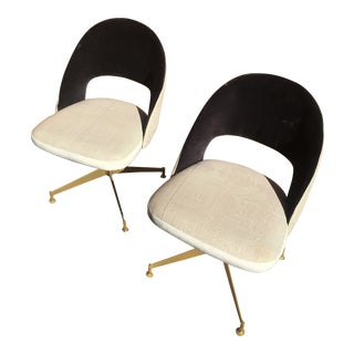 Art Deco Modern Swivel Dining/Desk Chairs - a Pair For Sale