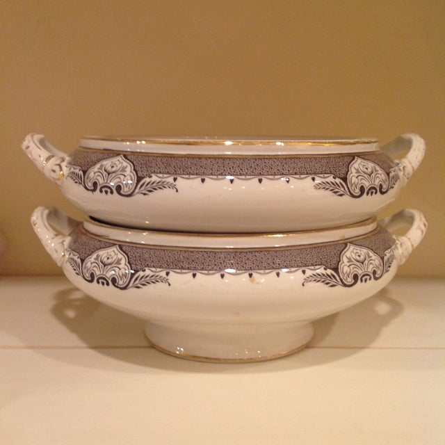 Transferware Serving Dishes - A Pair - Image 3 of 6