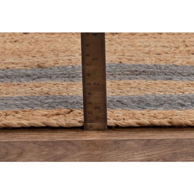 2'x3' Grey Border Rectangle Jute Handmade Rug For Sale - Image 10 of 11