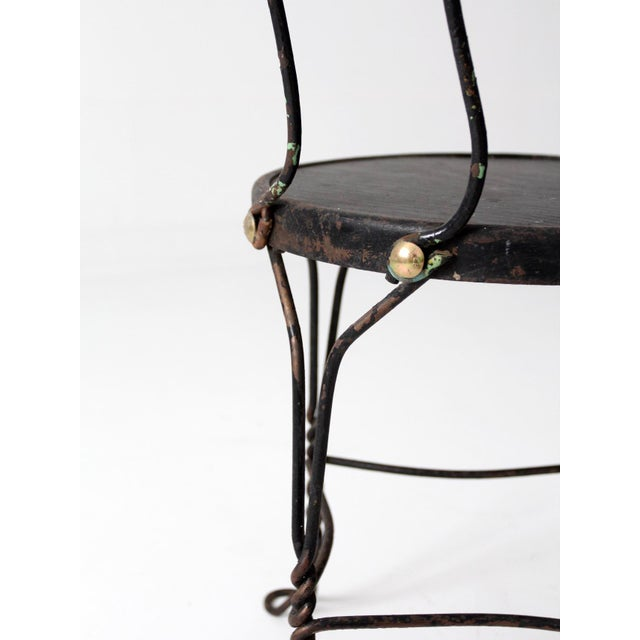 Vintage Ice Cream Parlor Bistro Chair - Image 7 of 7