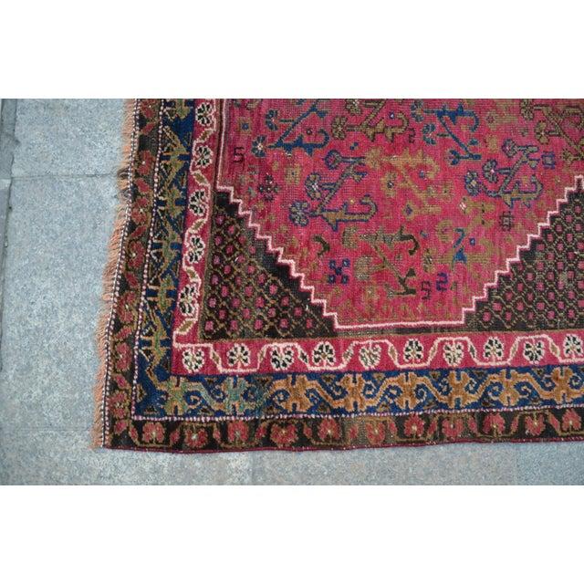 "Persian Antique Handmade Runner Rug -- 3'3"" x 10'5"" - Image 6 of 6"