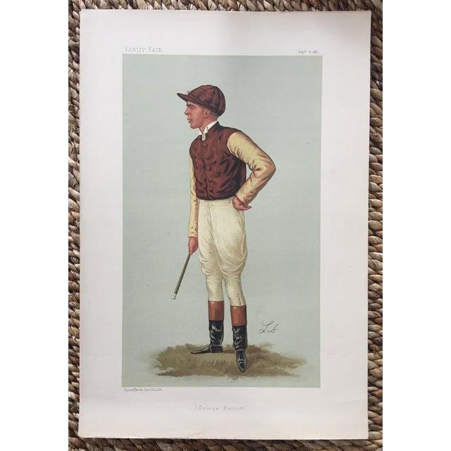 1887 Original Vanity Fair George Barrett Jockey Print - Image 3 of 3