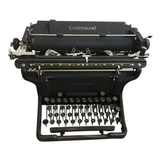 1920s Vintage Underwood Typerwriter For Sale