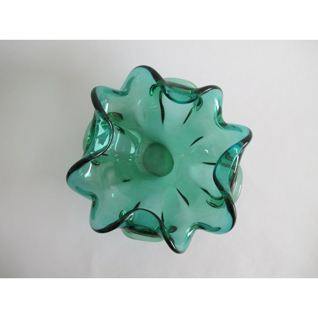 Teal Murano Decorative Glass Bowl - Image 3 of 3