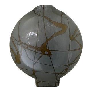 Modern Handmade Circular Glass Vase Sculpture For Sale