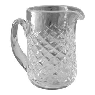 Vintage Alana Waterford Signed Crystal Jug Pitcher For Sale