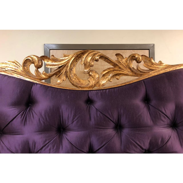 Purple Christopher Guy Tufted Loveseat For Sale - Image 8 of 11