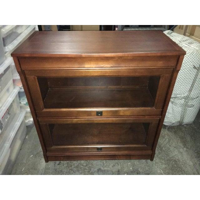 Classic Mahogany Wood Lawyer's Bar/Hutch - Image 2 of 4