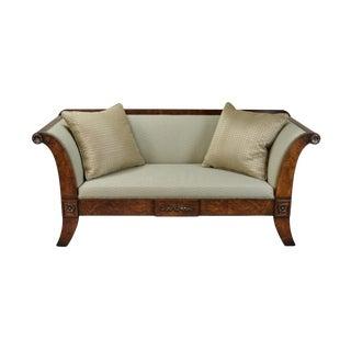 2000's William Switzer Classic Austrian Biedermeier Style Sofa For Sale