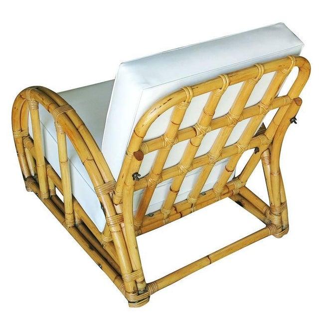 Half Moon Rattan Two Strand Lounge Chair - Image 6 of 6