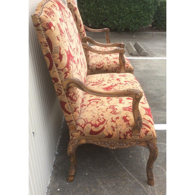 Tuscan Style Settees - a Pair For Sale - Image 10 of 13
