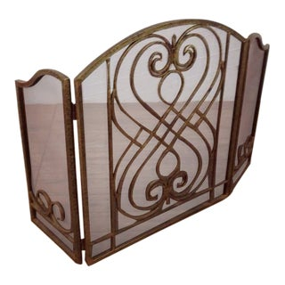 Decorative Metal Fireplace Screen