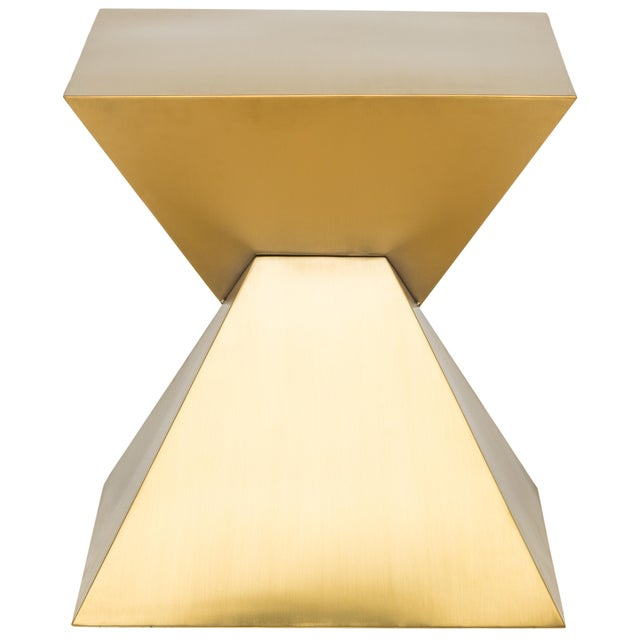 Giza Steel Side Table In Gold For Sale In Buffalo - Image 6 of 8