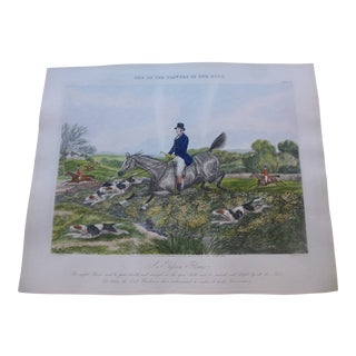 "British Hunting Print ""A Passion Flower"" by Henry Alken For Sale"