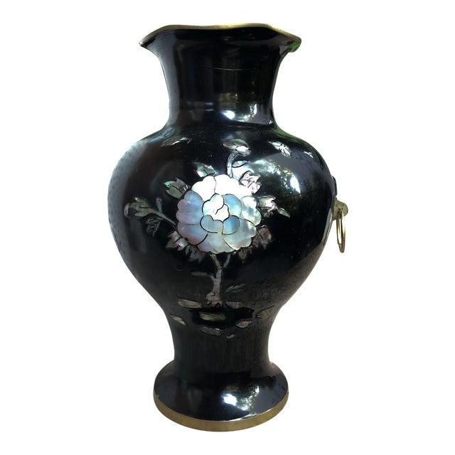 Japanese Enamel & Pearl Vase For Sale