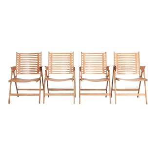 1950s Rex Folding Plywood Chairs - Set of 4 For Sale