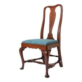 Boston Queen Ann Mahogany Slip Seat Side Chair For Sale
