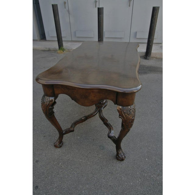 Traditional 19th Century Dutch Library Desk Table and Chairs Set For Sale - Image 3 of 9
