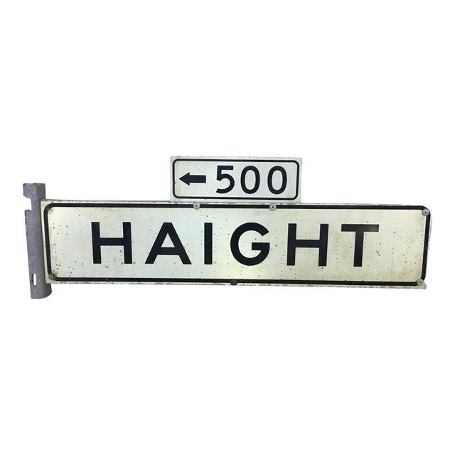 1970s Haight Street 500 Block Metal Sign - Image 1 of 6