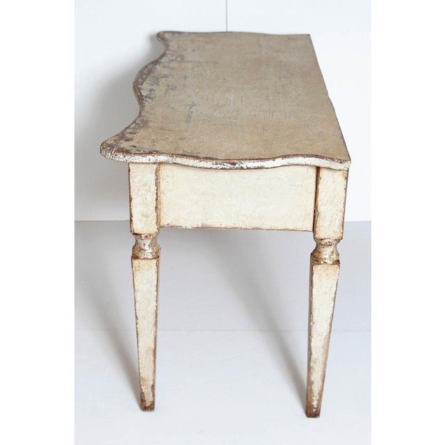 Pair of French Painted and Gilt Console Tables For Sale In Dallas - Image 6 of 9