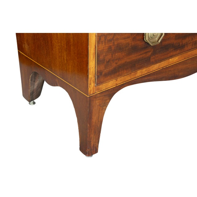 George III Diminutive Mahogany and Satinwood Secretaire For Sale - Image 10 of 13