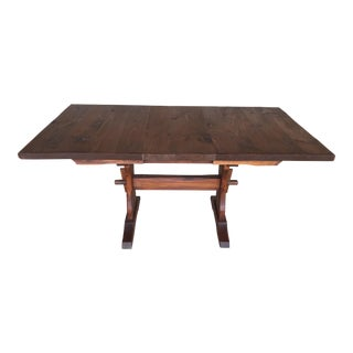 Hunt Country Furniture Rough Cut Trestle Dining Table For Sale