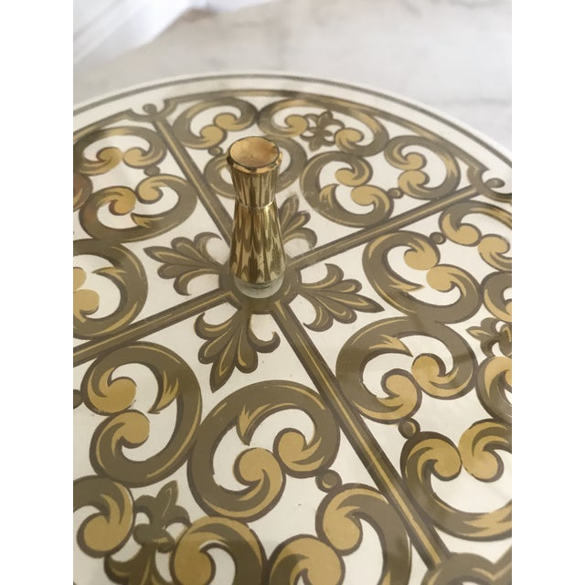 1980s Mid-Century Modern George Briard Fleur De Lis Ice Bucket For Sale - Image 4 of 10