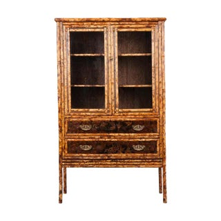 English 19th Century Aesthetic Bamboo Bookcase For Sale