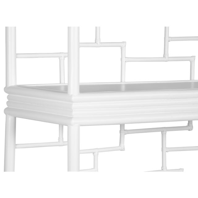 Tibet Etagere - White For Sale In West Palm - Image 6 of 10