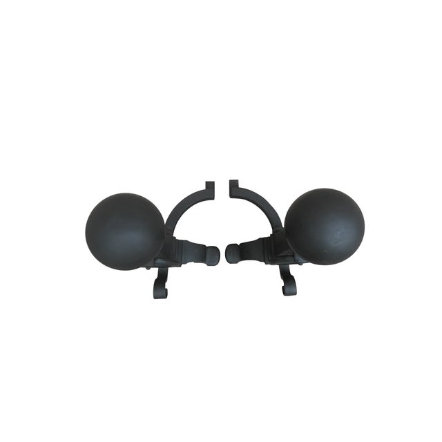 Eastlake Style Cannon Ball Top Andirons - A Pair - Image 7 of 7