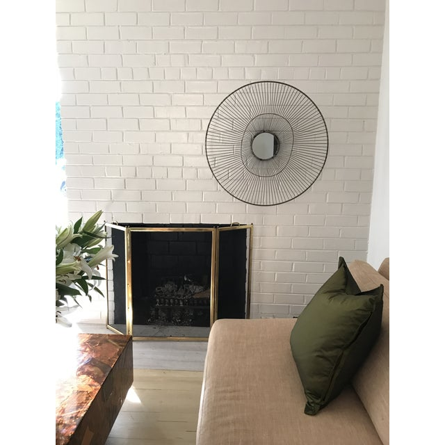 Contemporary Large Sculptural Wire Sunburst Wall Mirror For Sale - Image 3 of 6