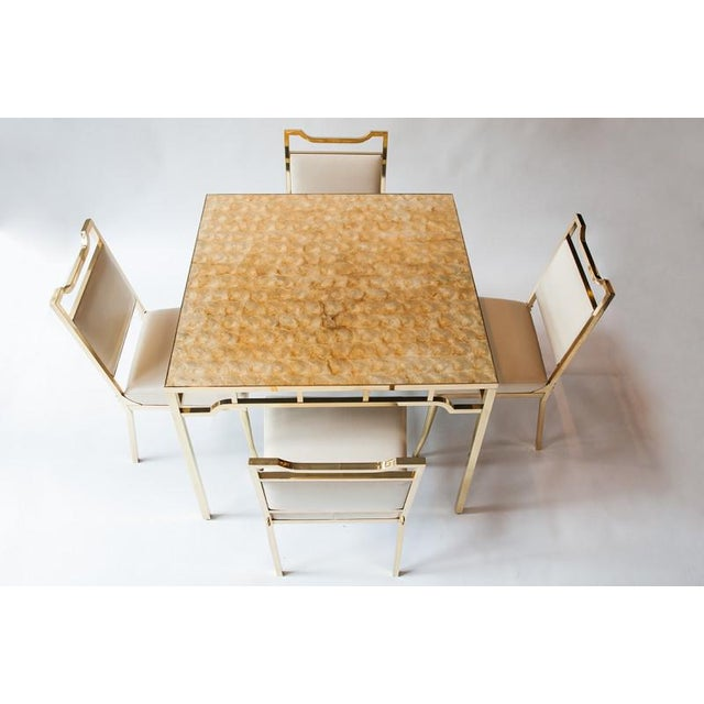 """1950s USA William """"Billy"""" Haines Capiz Shell Game Table and Chairs For Sale - Image 11 of 11"""