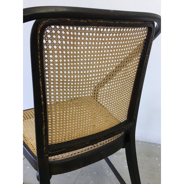 Josef Hoffmann Caned Side Chair For Sale - Image 9 of 13