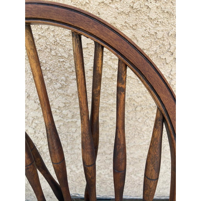 Wood Antique Windsor Side Chair For Sale - Image 7 of 12