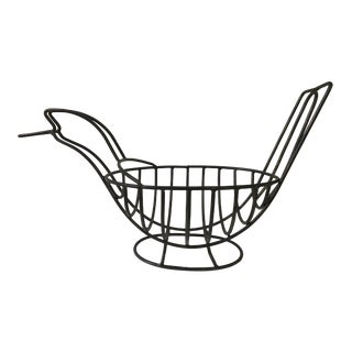 Vintage Bird Shaped Wrought Iron Style Fruit Bowl/Basket