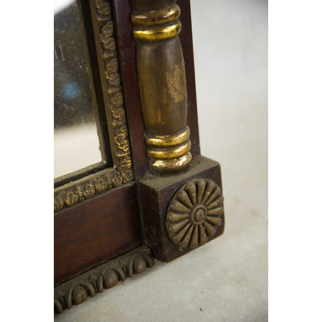 Antique Regency Mahogany and Giltwood Mantel Mirror For Sale - Image 4 of 8