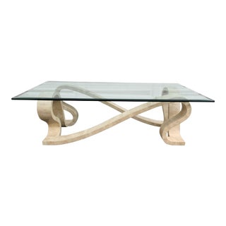 Tessellated Marble Ribbon Coffee Table