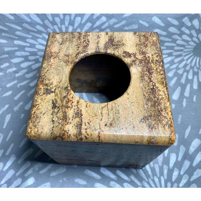 Waterstone Dark Travertine Tissue Box Cover Holder For Sale In Saint Louis - Image 6 of 8