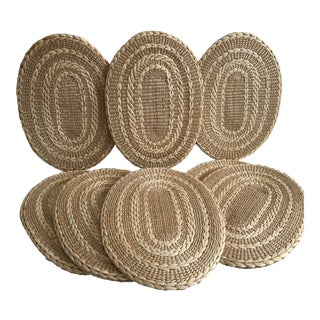 Woven Rush Picnic Perfect Placemats - Set of 8 For Sale