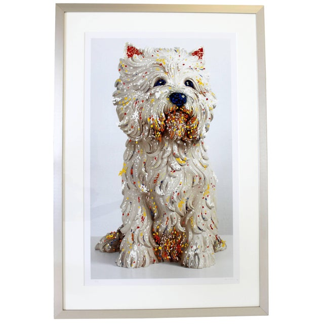 Contemporary Jeff Koons Large Framed Dog Lithograph Signed Dated 1999 59/75 For Sale - Image 10 of 10