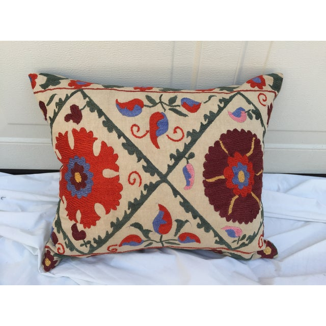 Antique Embroidered Suzani Pillow - Image 2 of 6