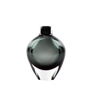 Small Smoked Glass Vase by Sven Palmquist for Orrefors For Sale