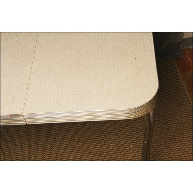 Mid-Century Modern White Formica Dinette Table - Image 7 of 12