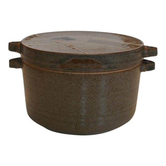 Mid Century Signed Studio Pottery Lidded Casserole Dish - Image 1 of 7
