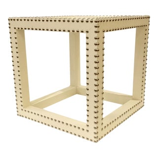 Modern Bungalow 5 Layla Grace Marco Low Cream Side Table For Sale