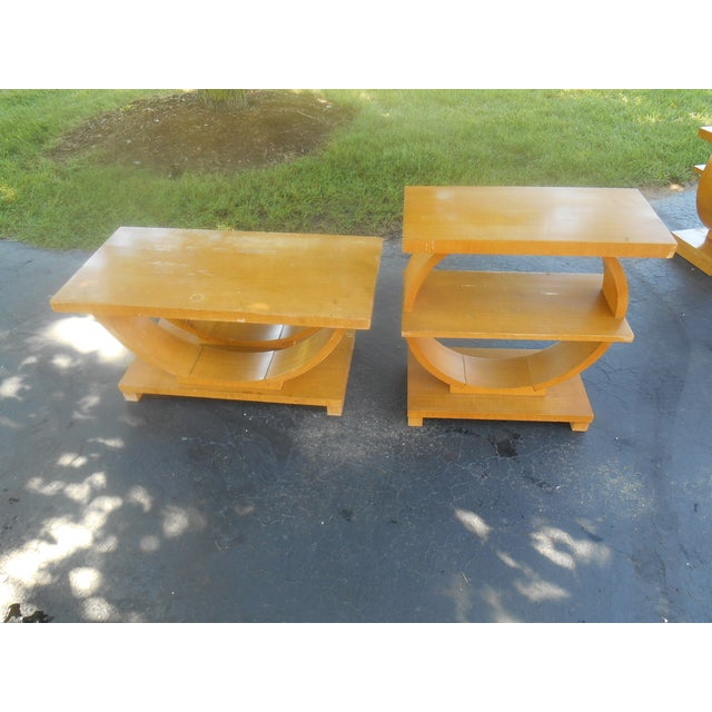 Art Deco Brown-Saltman Side Tables - A Pair - Image 3 of 4