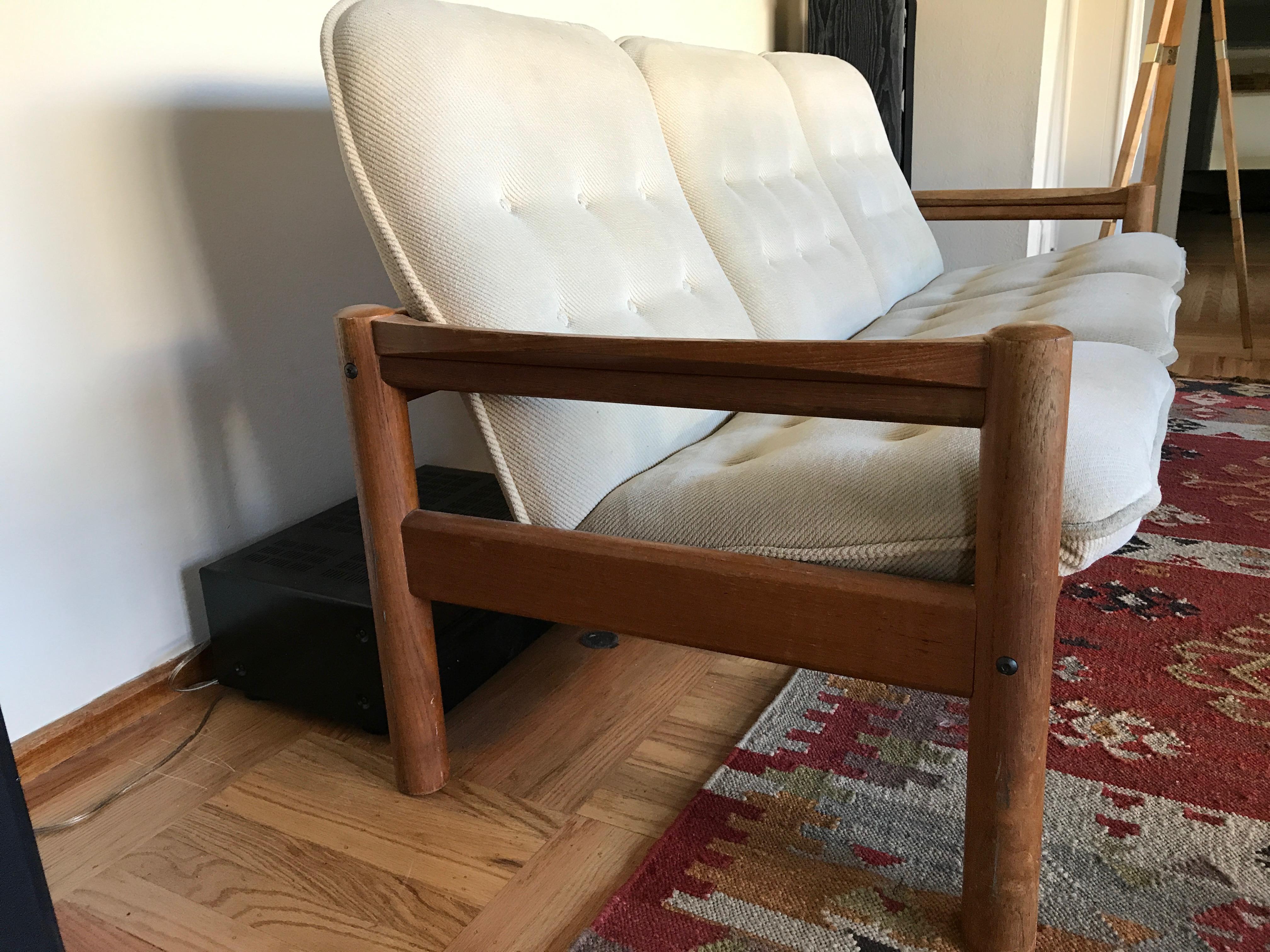 Domino Mobler Mid Century Danish Modern Teak Sofa   Image 3 Of 5